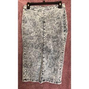 Dresses & Skirts - Jean Midi Skirt large Acid Wash